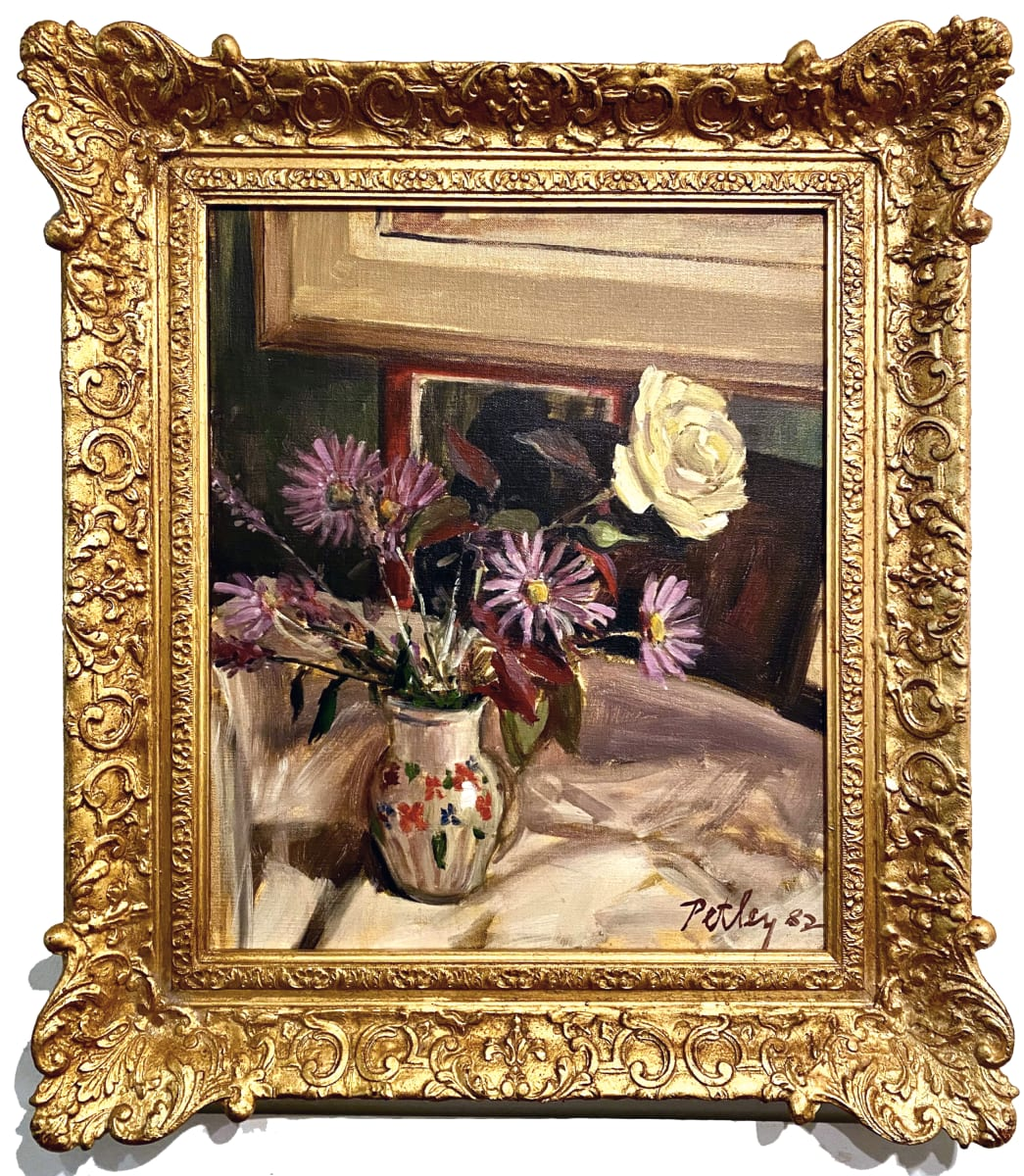 1377 - Still Life With A Yellow Rose by Llewellyn Petley-Jones (1908-1986)