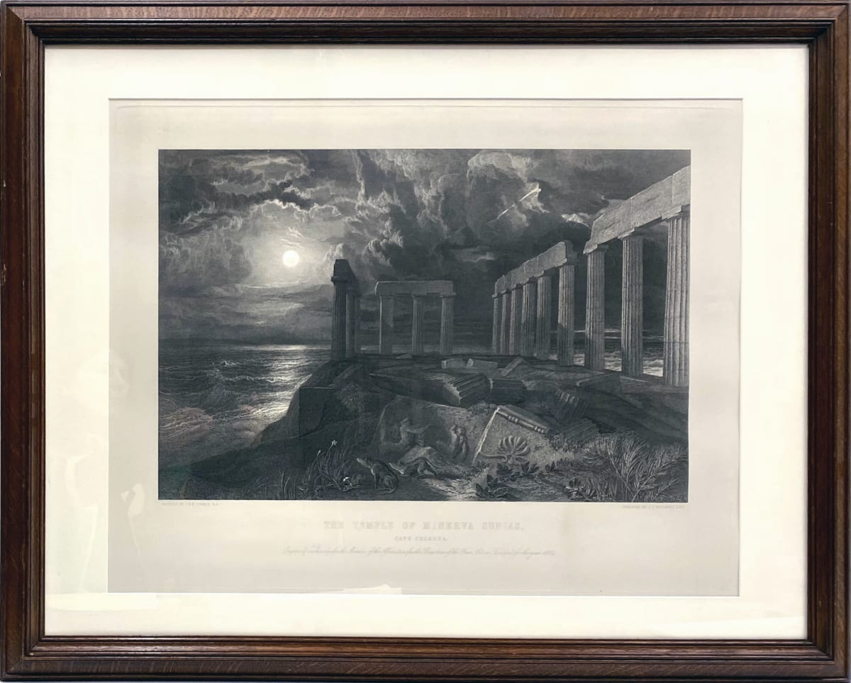 2262 - The Temple of Minerva, Sunias by J.T. Willmore (1800 - 1863)