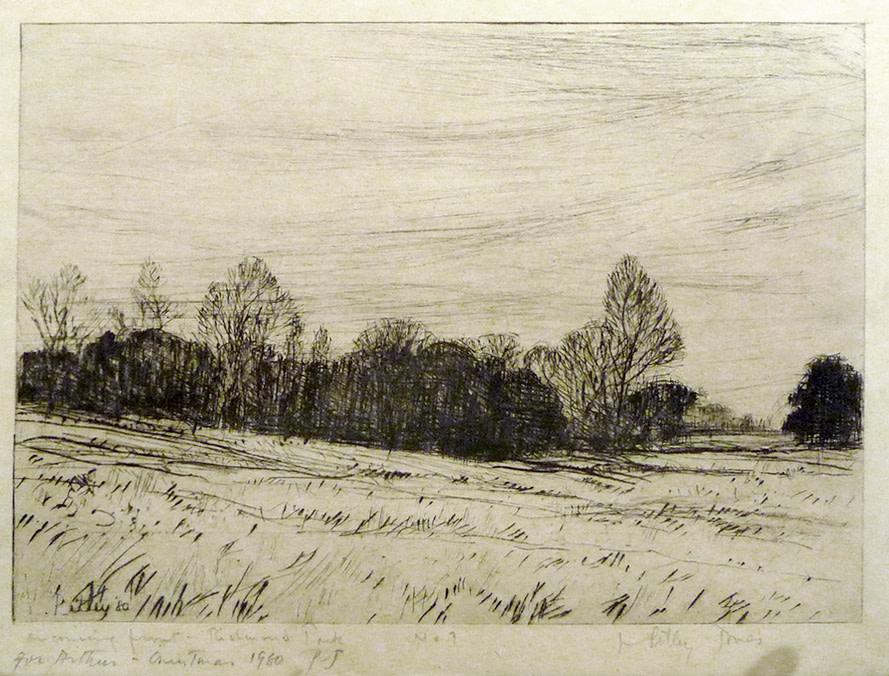 2904 - Oncoming Frost in Richmond Park No7 by Llewellyn Petley-Jones (1908-1986)