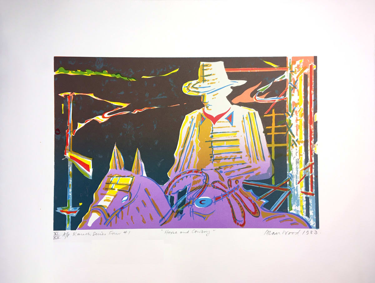 3013 - Horse and Cowboy by Alan Wood (1935-2017)