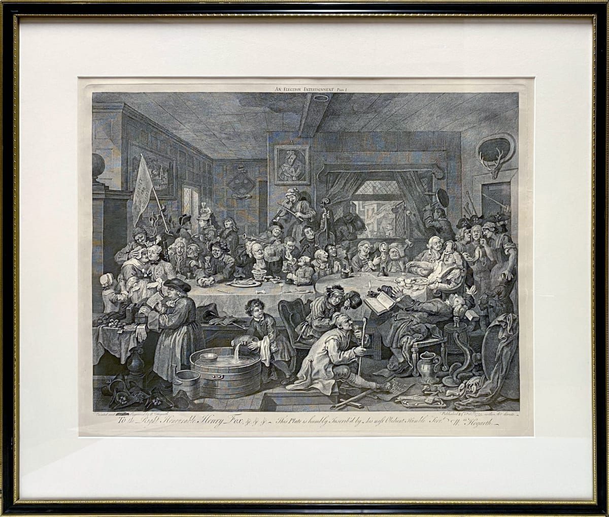 3956 - An Election Entertainment Plate 1 by William Hogarth (1697 – 1764)