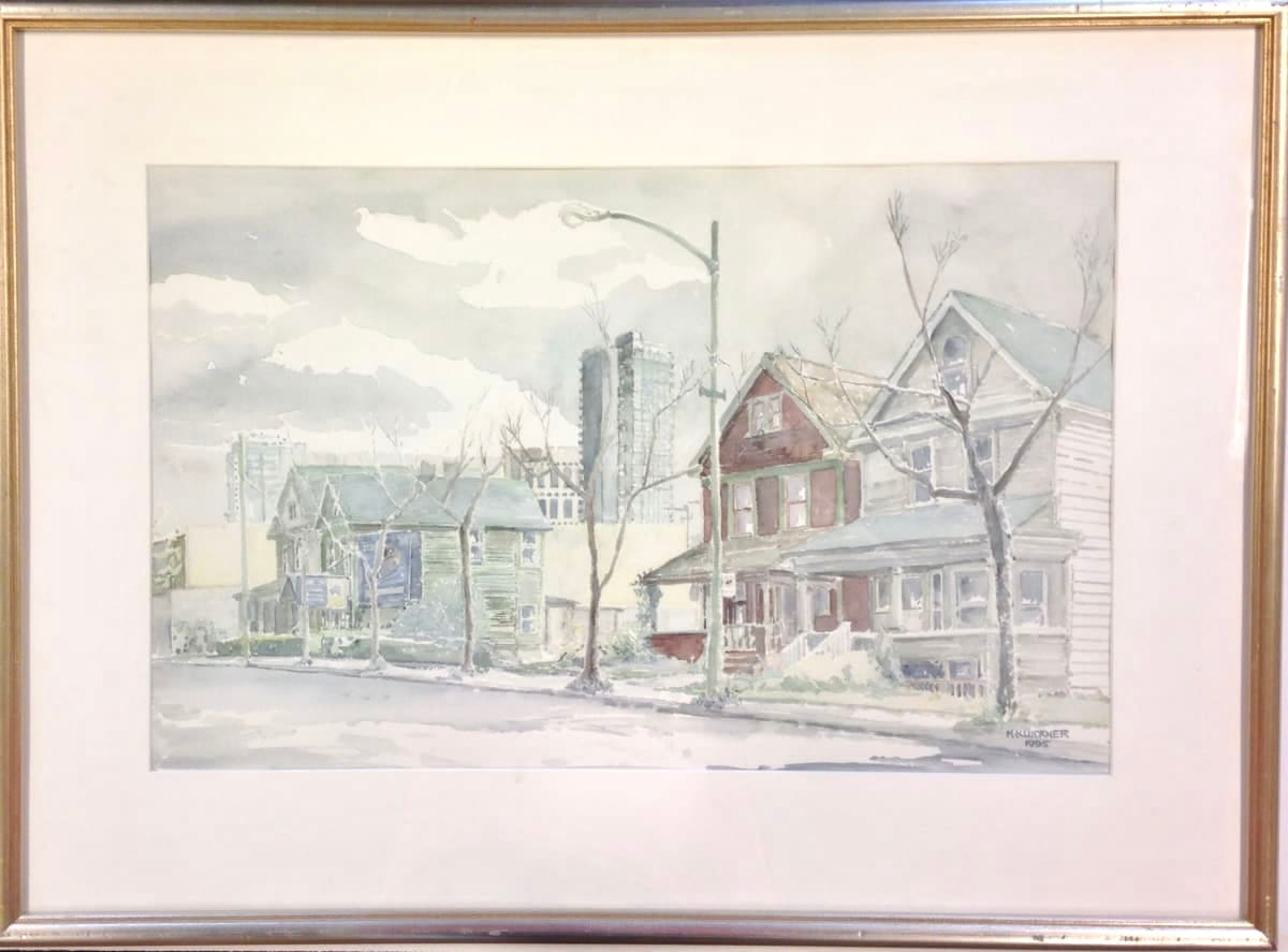 2664 - Quiet Street With Houses by Michael Kluckner