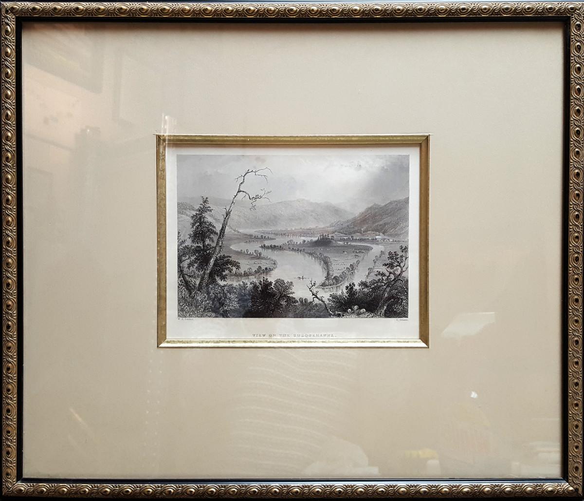 2953 - View on the Susquemanna by W.H. (William Henry) Bartlett (1809-1854)