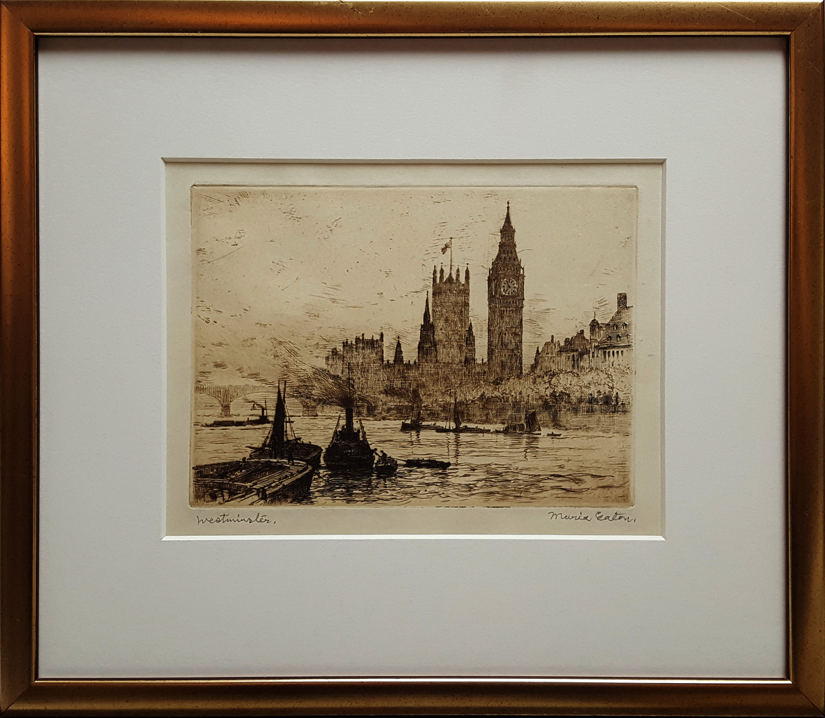 2526 - Westminster by Maria Hampshire Eaton (c1860-c1940)