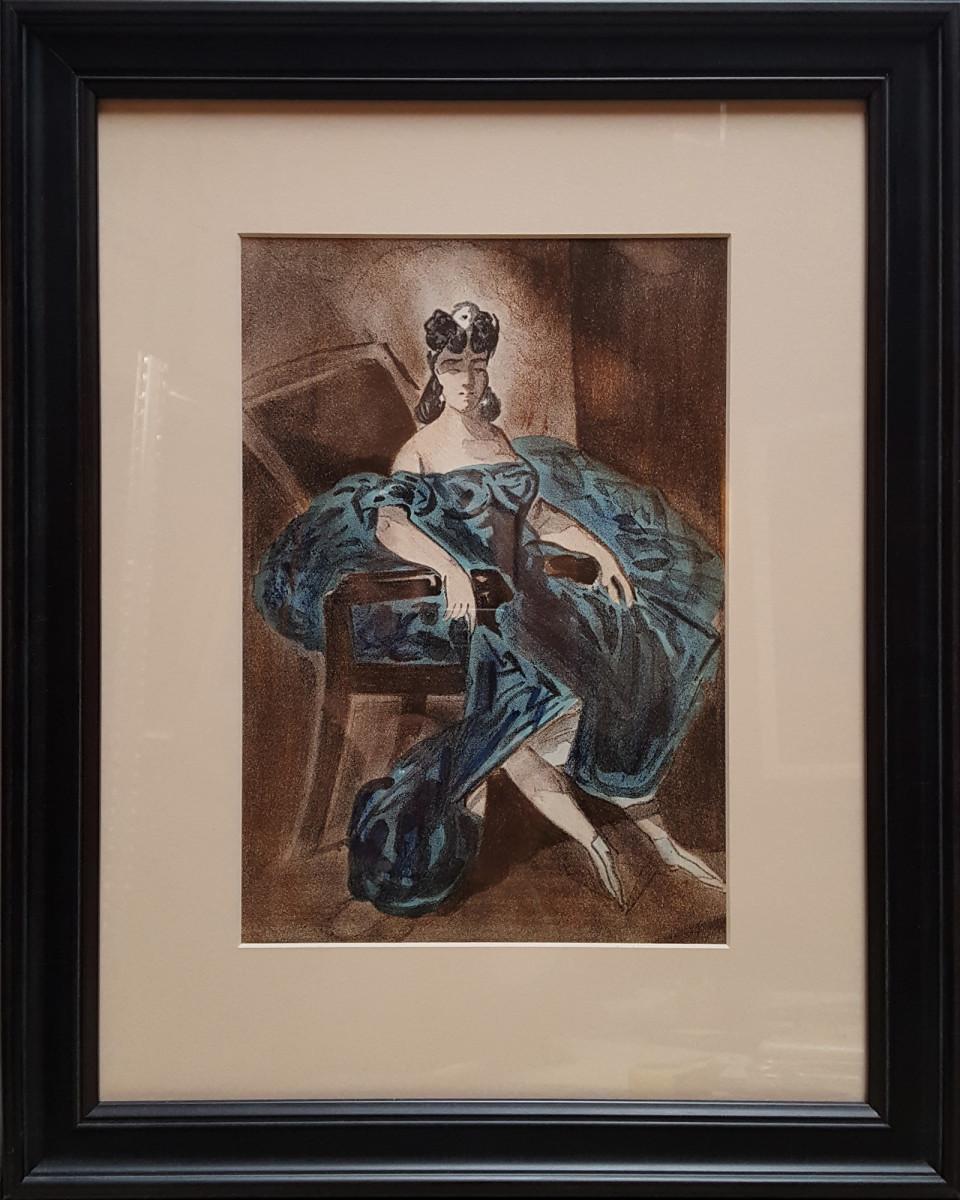 2195 - Portrait II by Constantin Guys (1802-1892)