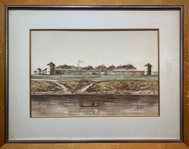 3067 - Old Fort Garry 1868 Demolished 1882 by Ernest John HUTCHINS ( c. 1880 - 1935 )
