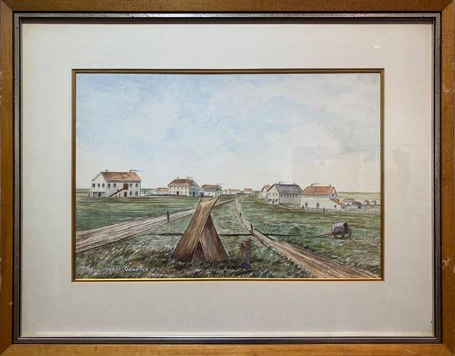 3066 - Main Street Winnipeg 1870 by Ernest John HUTCHINS ( c. 1880 - 1935 )