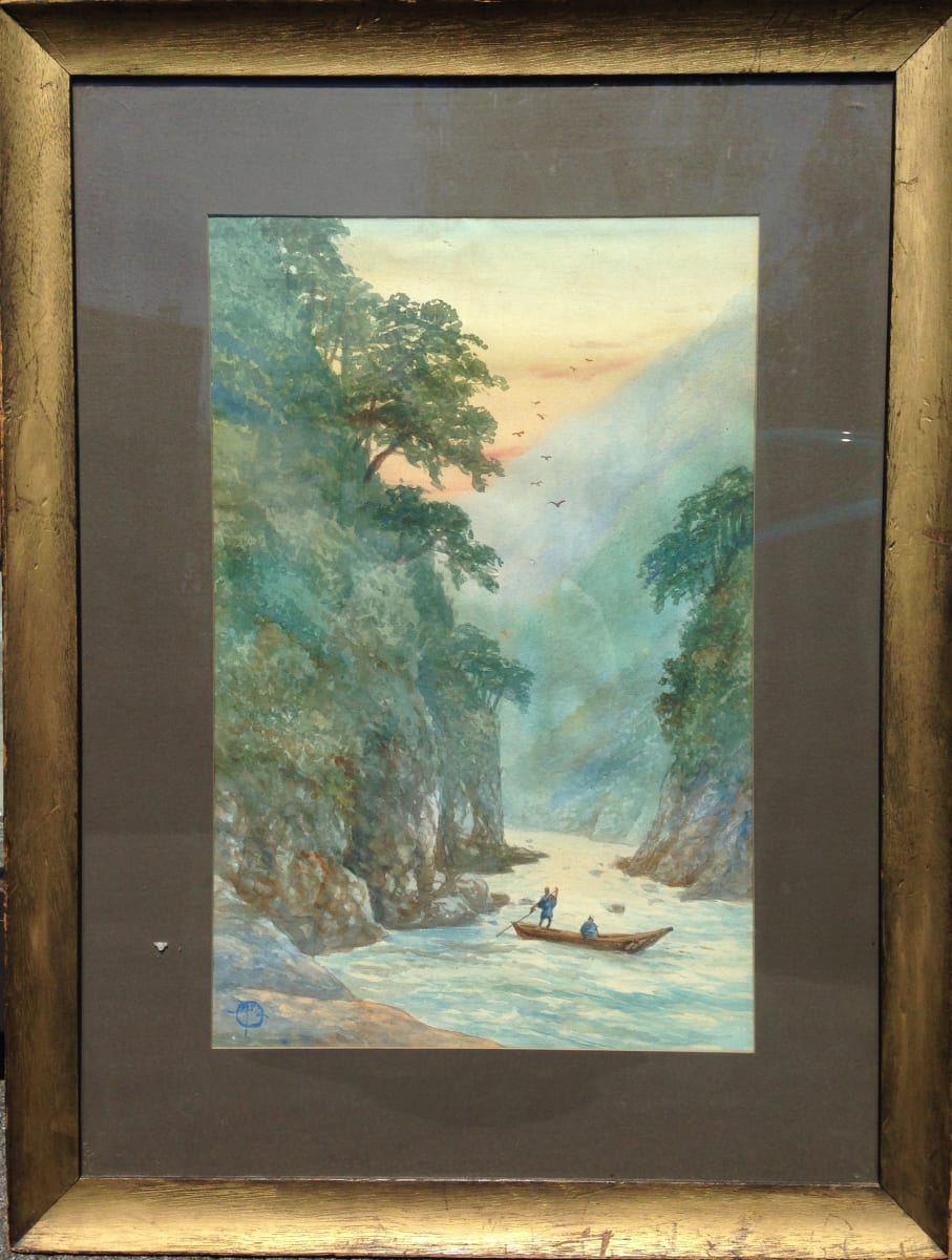 2709 - River Scene in Asia by Unknown