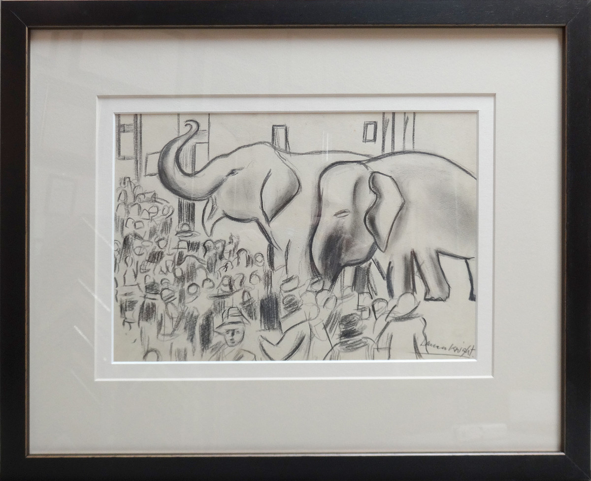 2481 - Circus drawing 1 by Dame Laura Knight DBE, RA RWS (1877 – 1970)