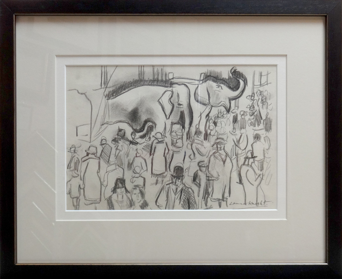 2482 - Untitled , Circus Scene by Dame Laura Knight DBE, RA RWS (1877 – 1970)