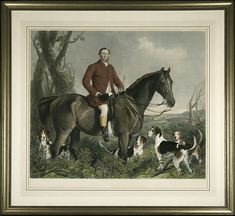 2035 - Engraving Picturing Francis Grant, K. A. by Henry Lemon