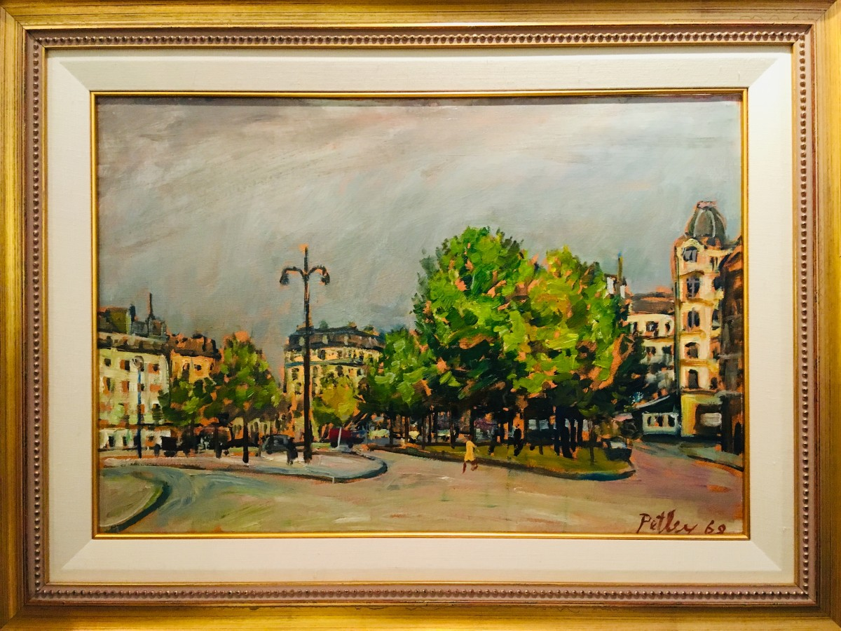 0299 - Approaching Storm, Paris by Llewellyn Petley-Jones (1908-1986)