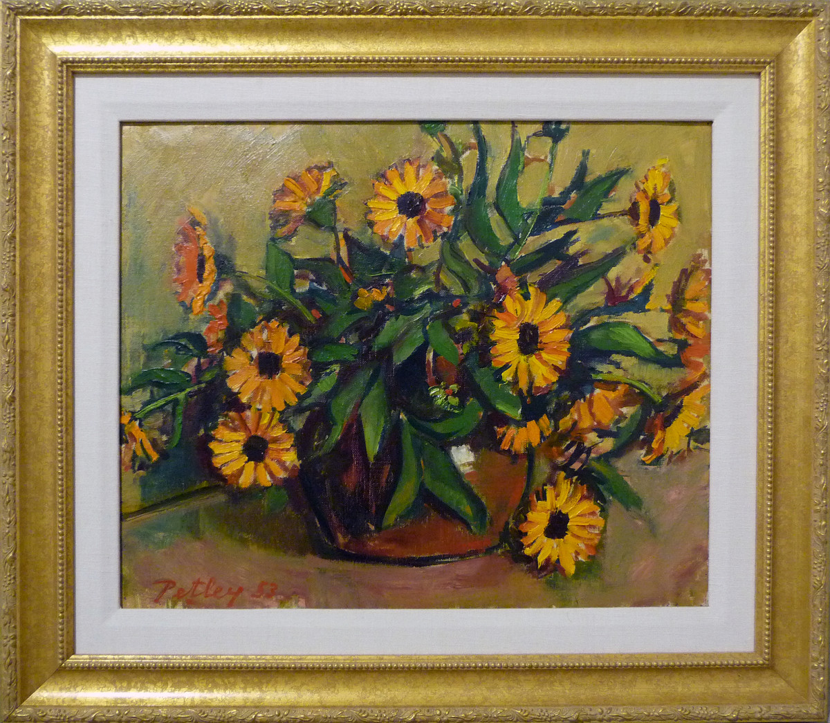 0227 - Marigolds by Llewellyn Petley-Jones (1908-1986)