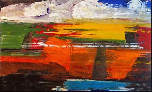 0595 - Deep in Orange by Matt Petley-Jones