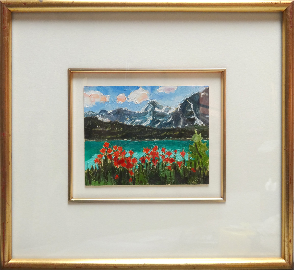 2985 - Mountain, Lake and Flowers
