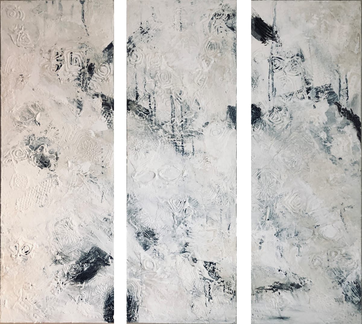 1172 - Nights in White Satin (by Moody Blues) (Triptych) by Barbara Arnold