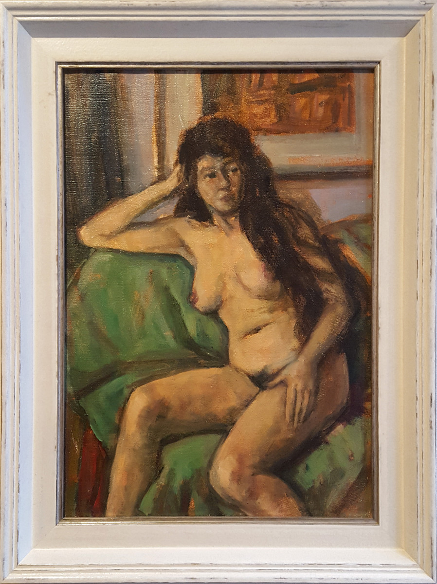 0232 - Nude on a Green Sofa by Llewellyn Petley-Jones (1908-1986)
