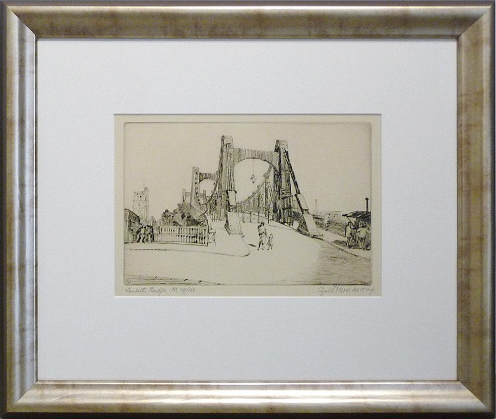 2935 - Lambeth Bridge, no 39/166 by Cyril E. Power (1872-1951)