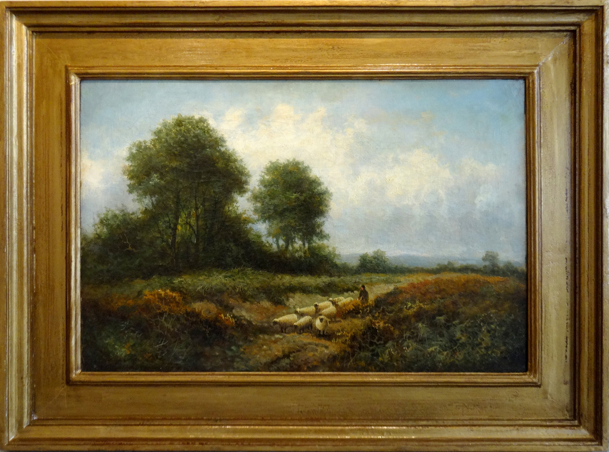 0148 - Rural Landscape by Benjamin Williams Leader (1831-1923)