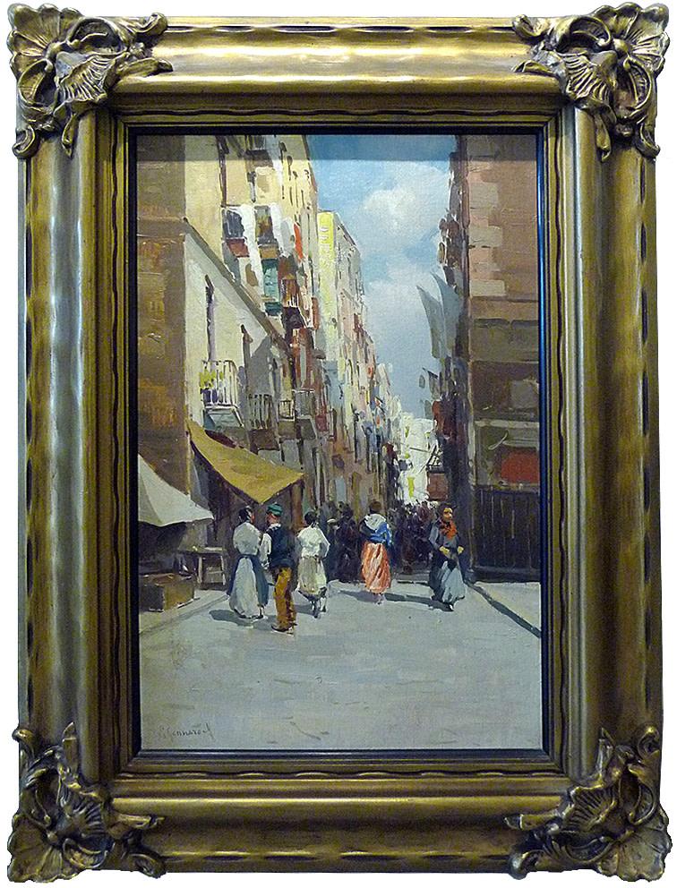 0043 - Street scene by Giuseppe Gennaro (1855-?)