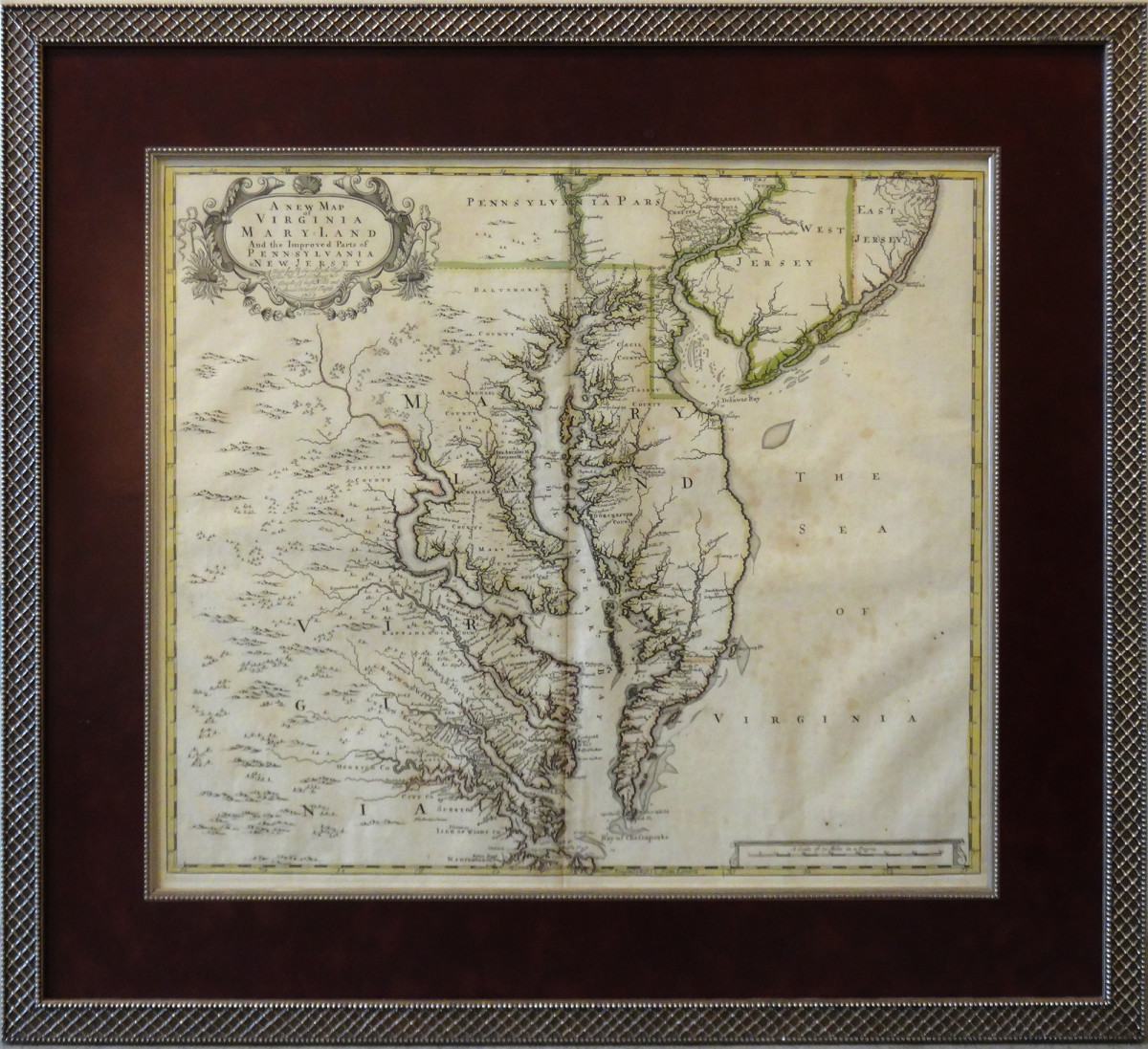 2001 - A New Map of Virginia, Maryland by Unknown