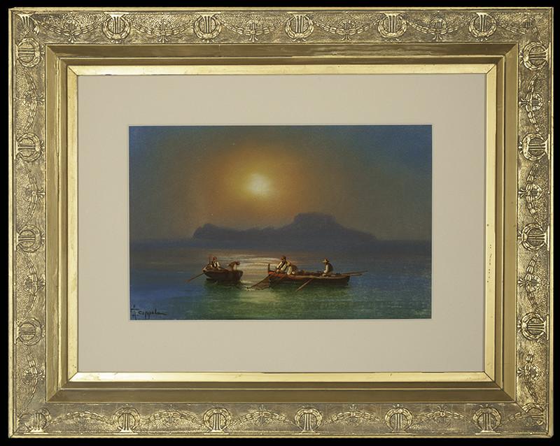 2139 - Two Boats by Francesco Coppola Castaldo (1845-1916)