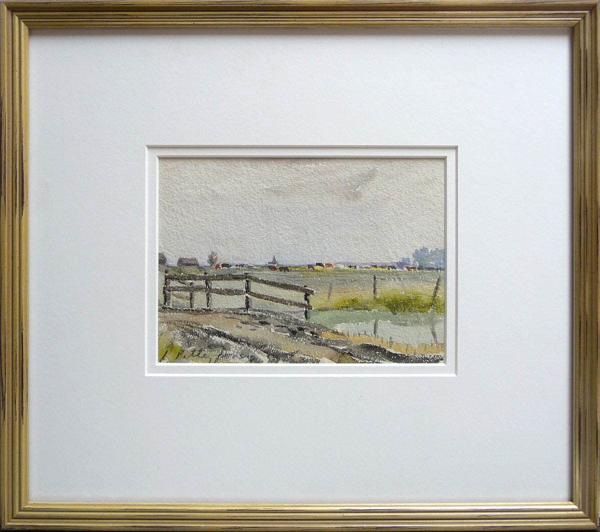 2353 - Sketch of an Old Bridge Over a Creek, June 2nd by Llewellyn Petley-Jones (1908-1986)
