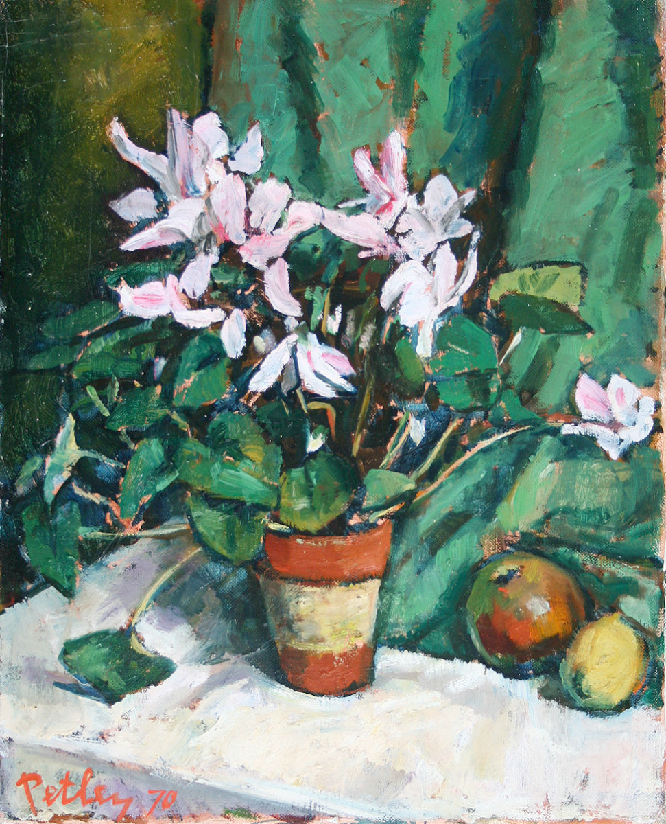 0292 - Still Life With Flowers and Fruit by Llewellyn Petley-Jones (1908-1986)