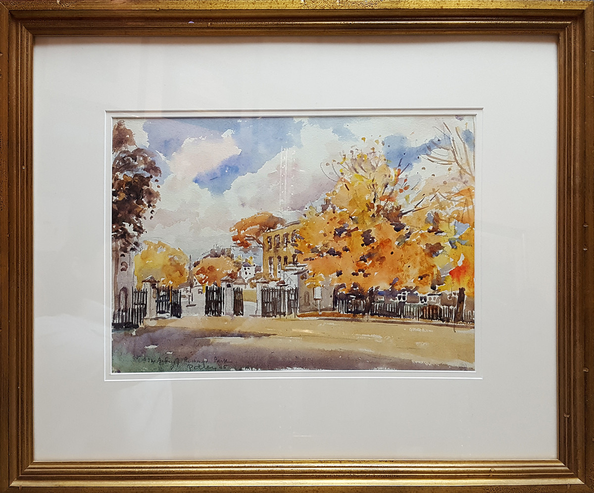 2361 - The Gates of Richmond Park by Llewellyn Petley-Jones (1908-1986)
