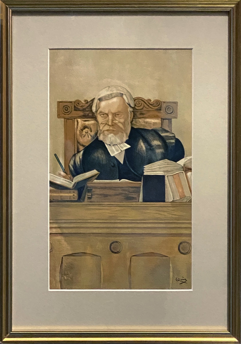 "2944 - ""An Old Fashioned Judge""  Lord Justice The Rt. Hon. Henry Charles Lopez by Sir John Paget Mellor (1862 - 1929)"