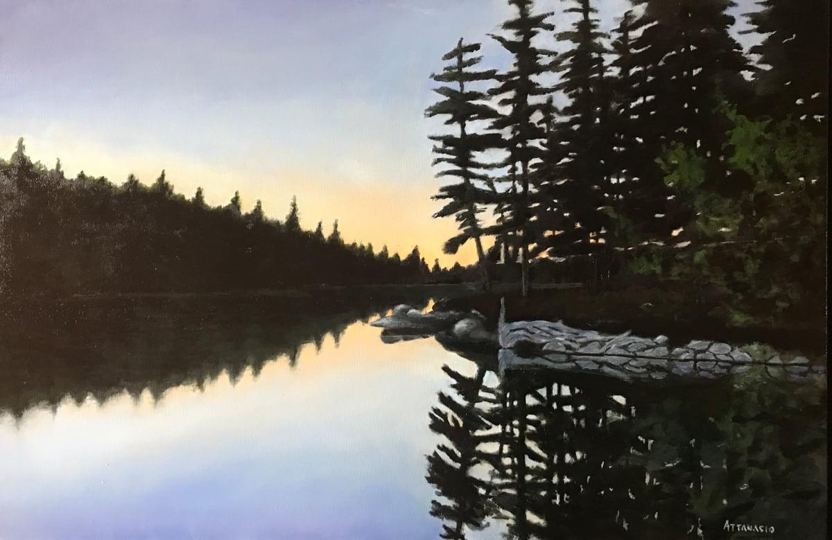 Cove at Sunset by John Attanasio