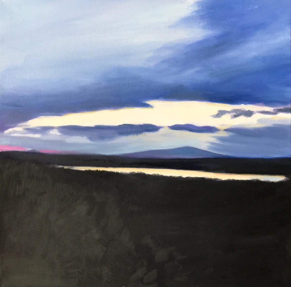 Sunset over Cadillac Mountain by John Attanasio