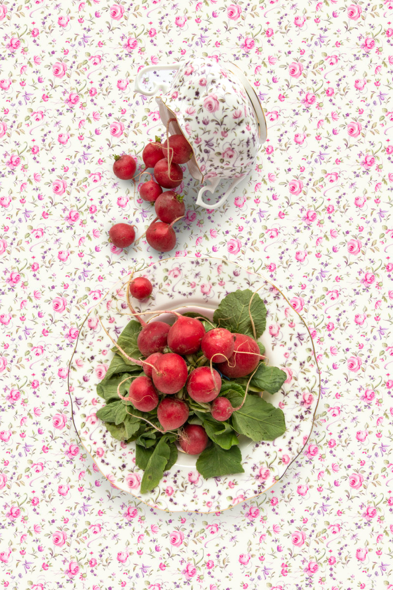 Royal Albert Rose Confetti with Radish by JP Terlizzi