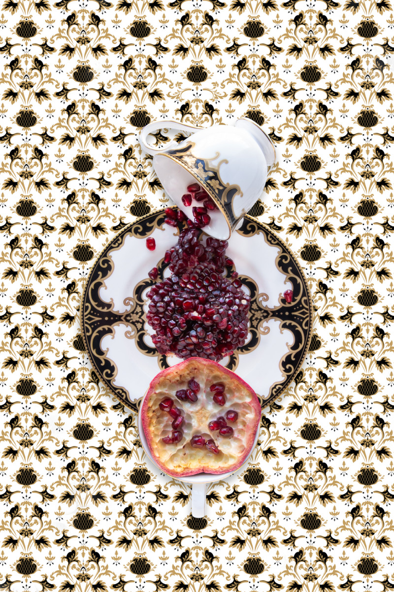 Marchesa Baroque Night with Pomegranate