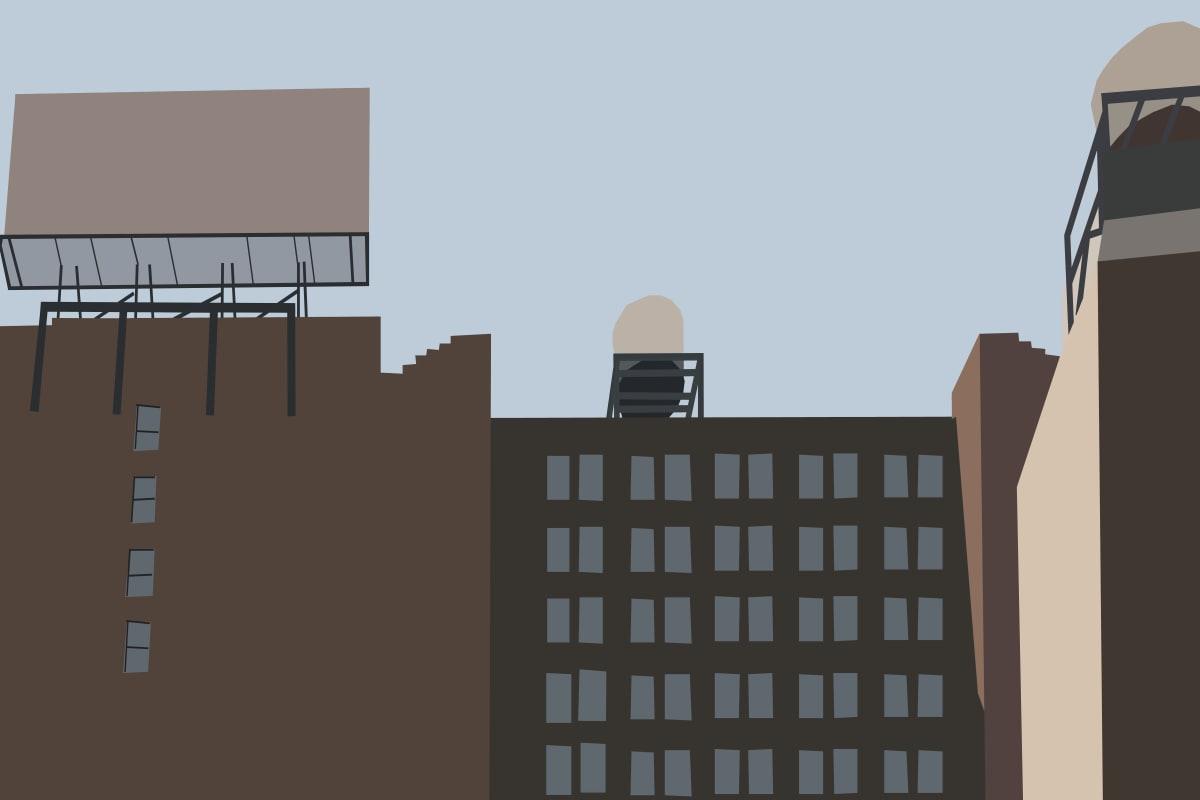 New York Street by Liz Mares