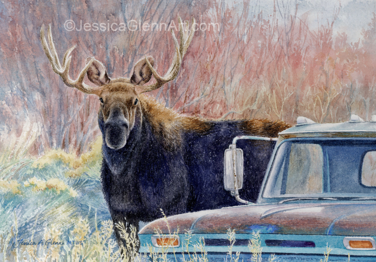 Chevy and Bullwinkle by Jessica Glenn
