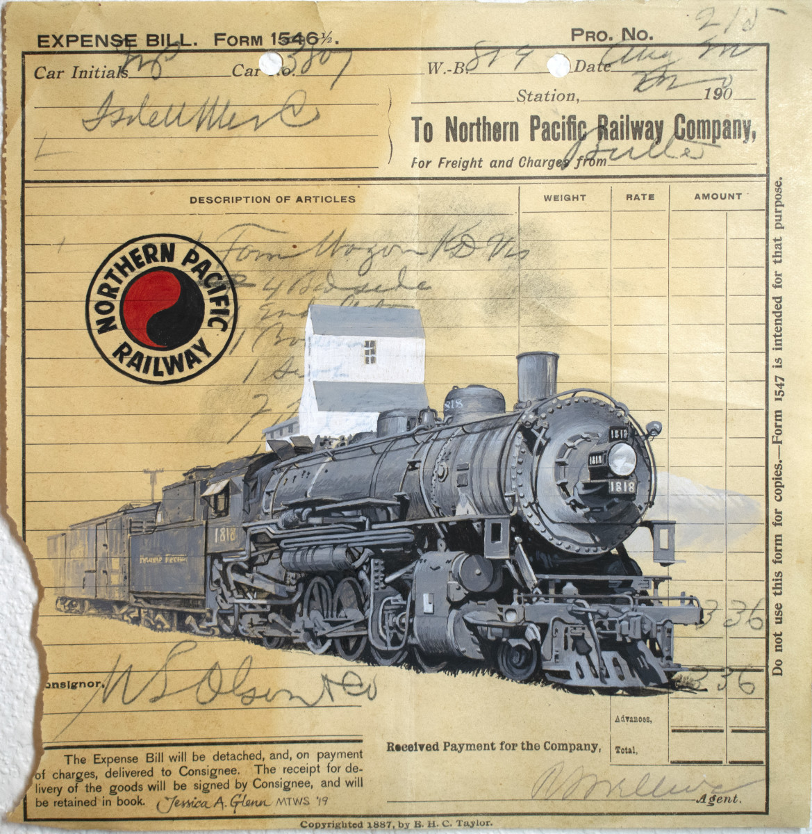 Northern Pacific Locomotive 1818 by Jessica Glenn