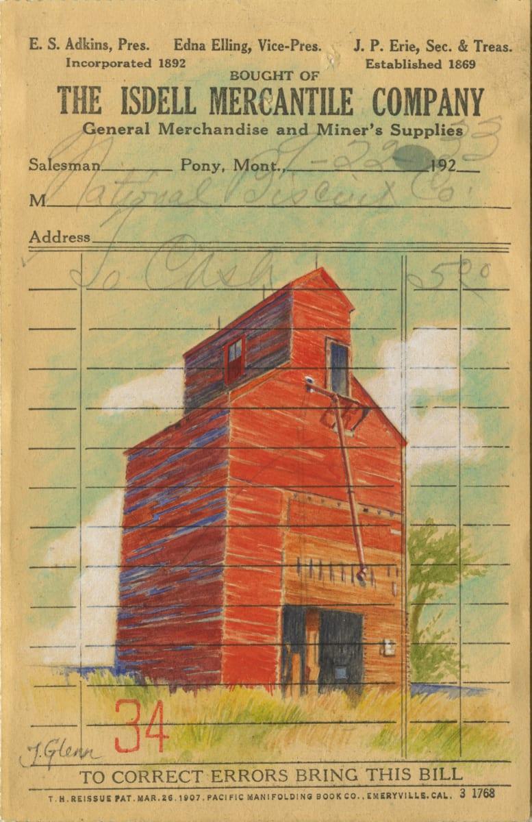 Red Grain Elevator by Jessica Glenn