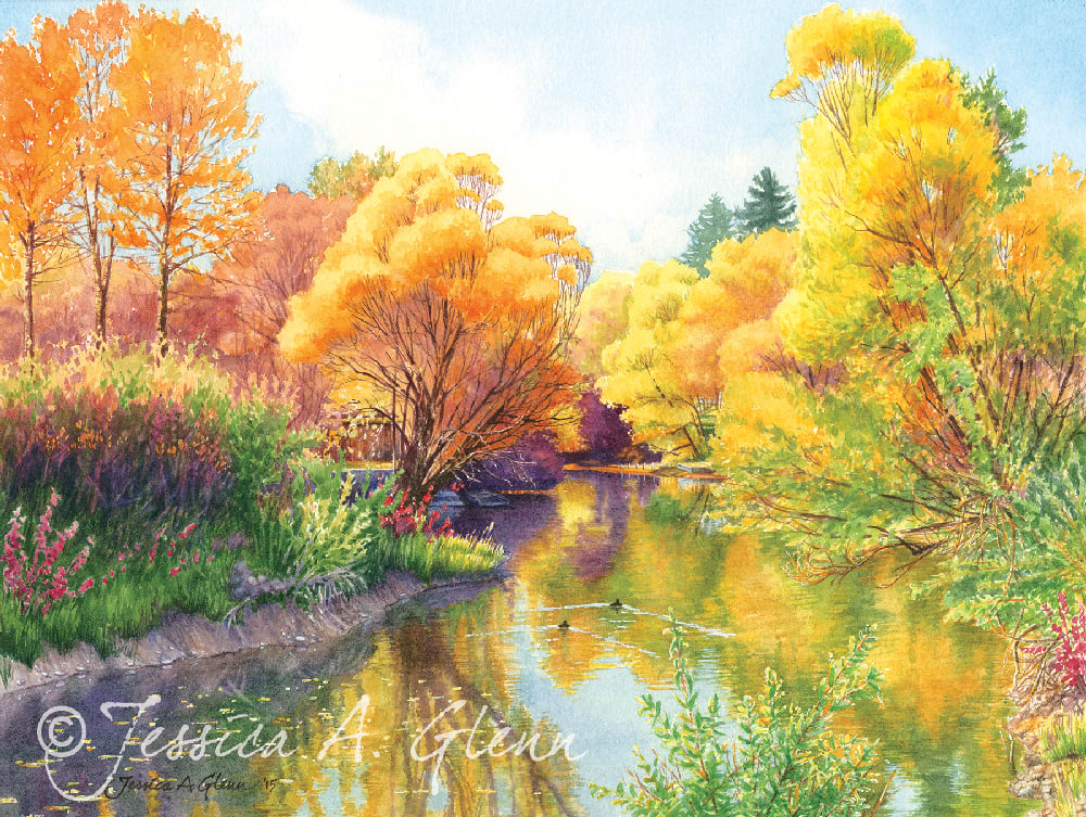 Whitefish River Autumn by Jessica Glenn