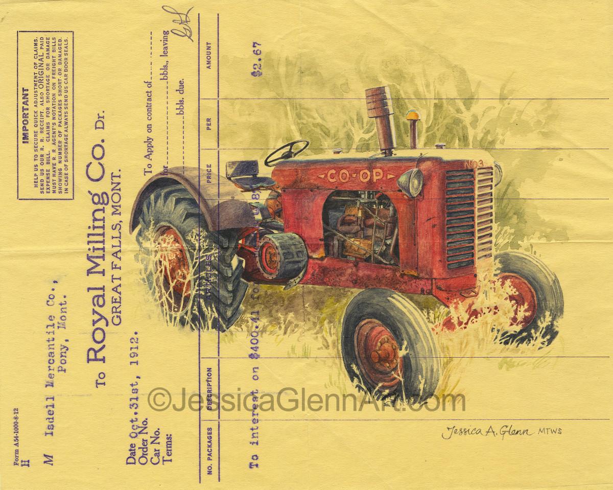 Co-op Tractor by Jessica Glenn