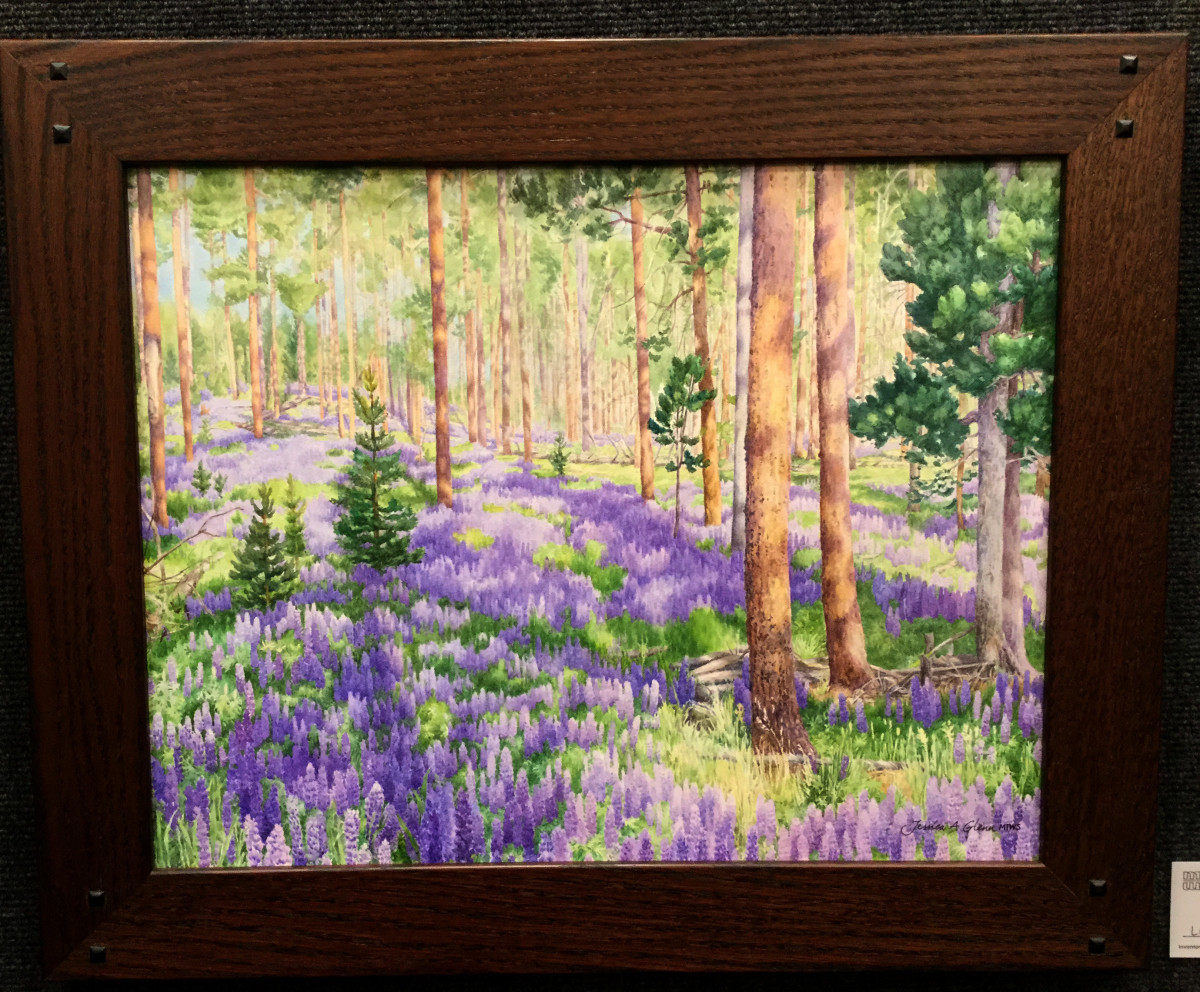 Lupines in the Big Hole by Jessica Glenn