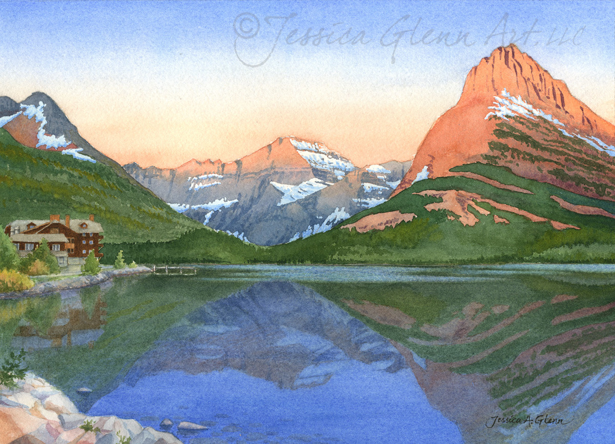 Many Glacier by Jessica Glenn