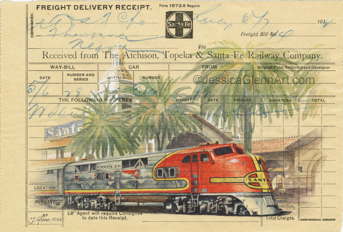 Santa Fe Locomotive by Jessica Glenn