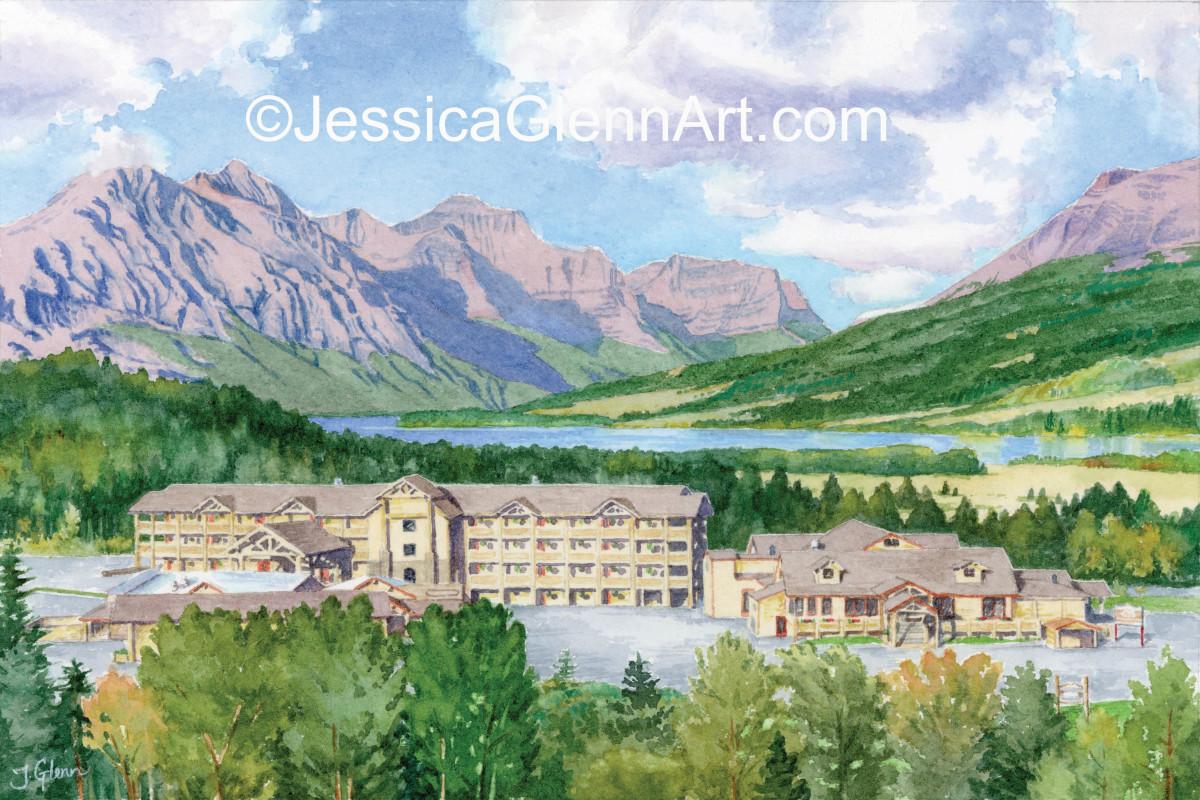 St Mary Lake Lodge (NFS) by Jessica Glenn
