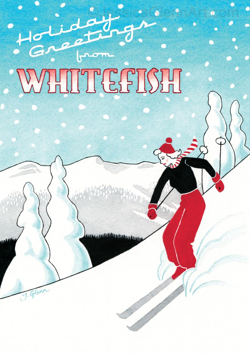 Whitefish Skier by Jessica Glenn