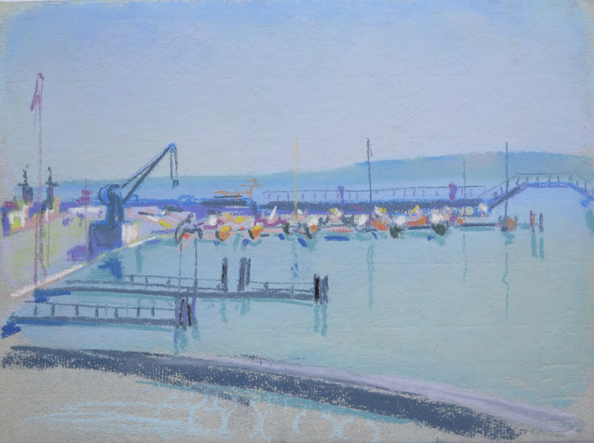 Genève, Port des Pâquis by LECOULTRE John-Francis (1905-1990)