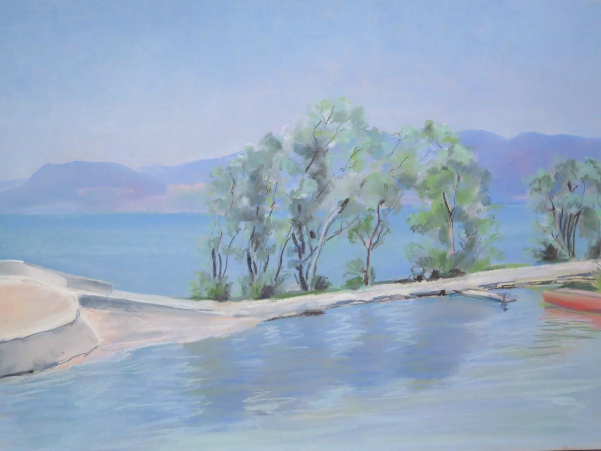 Chevroux, le canot rouge by LECOULTRE John-Francis (1905-1990)