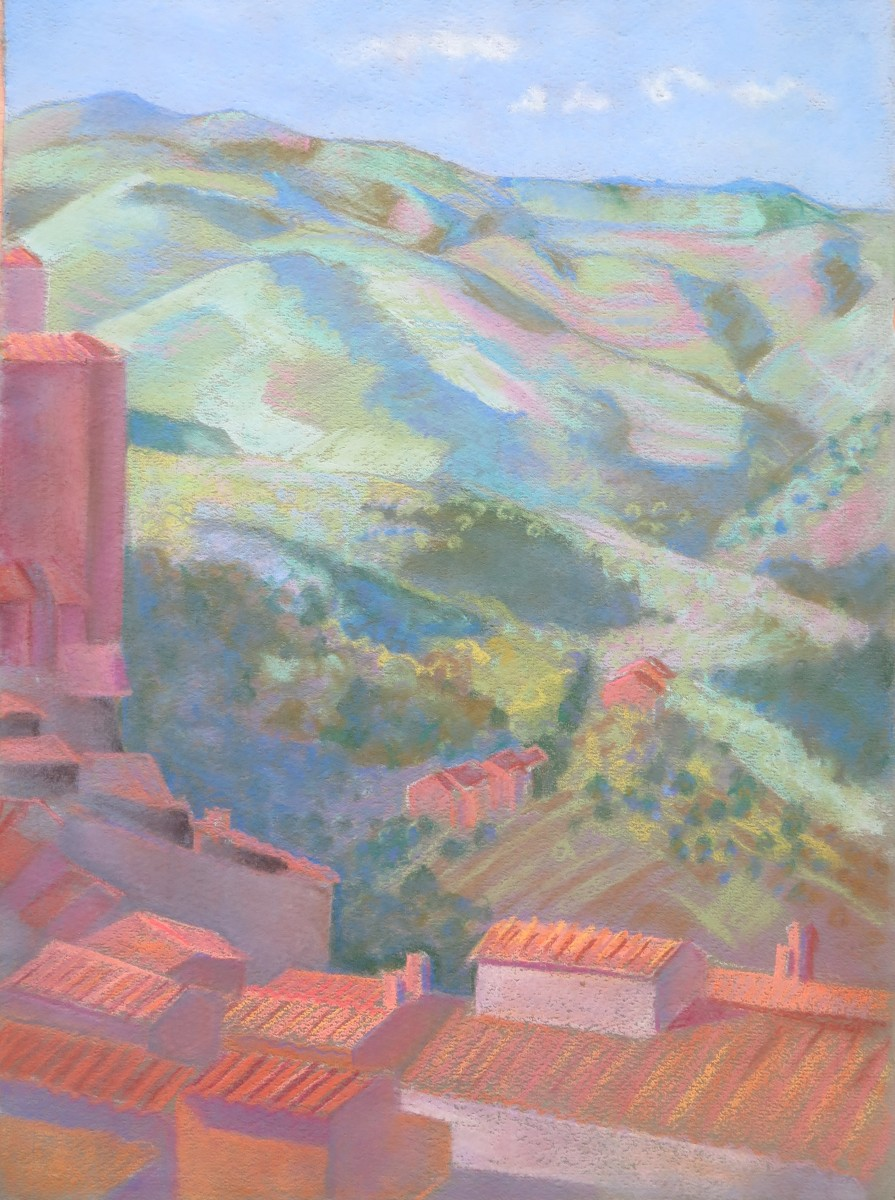 Le collines autour de Sienne, II by LECOULTRE John-Francis (1905-1990)