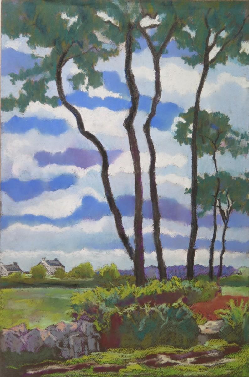 Ciel de Bretagne vers Pont-l'Abbé by LECOULTRE John-Francis (1905-1990)