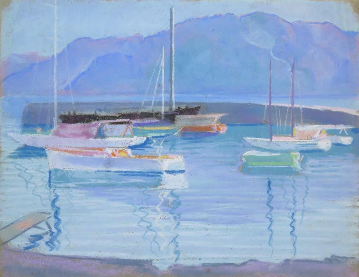 Port de la Tour-de-Peilz by LECOULTRE John-Francis (1905-1990)